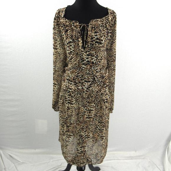 Ralph Lauren Leopard Print Plus Size Dress